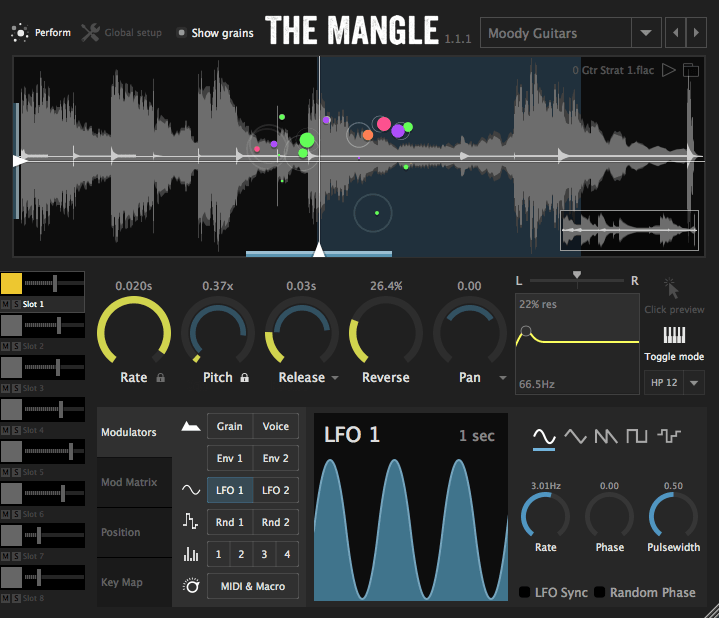 Sound Guru :: The Mangle - Granular Synthesizer Plugin